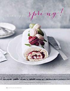 Sweet Paul Magazine - Spring 2013 - Raspberry Swiss roll! (recipe on Page 92) Gluten Free...looks so YUMMY!!