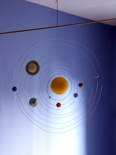 Yet another approach to the solar system mobile.  This might be a project for summer vacation.
