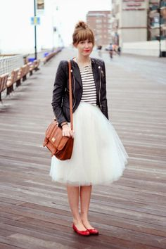 Look con la gonna di tulle