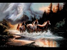 Art Prints Inc Native American Indian Chief With Running Horses Home Decor Wall Picture Art Print Native American Music, Native American Print, Native American Pictures, American Spirit, American Indian Art, Native American Indians, Native Indian, American Pride, Native Art