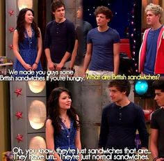 Icarly (meets one direction c; <3)!!