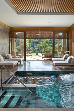 """On this """"The Director of Spa and Wellness at Mandarin Oriental, Bodrum in talks about hammam rituals and other invigorating treatments at the property's luxury hillside on Spa Design, Design Hotel, House Design, Jacuzzi Design, Spa Interior Design, Design Ideas, Home Spa Room, Spa Rooms, Piscina Spa"""