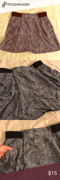 COTTON ON Mini Skirt in Dot Print Cute and flouncy mini skirt in blue with white dots from Cotton On Australia. Has pockets and zip detail, as well as elastic on the side of the waist. Great condition. Size S. Cotton On Skirts Mini
