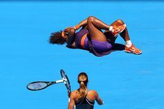 Serena vows to play through pain....She won her 1st round singles match 6-0, 6-0 v Edina Gallovits-Hall of Romania at the Austrailan Open....the 15X Slam Champ did so hobbled after she turned her ankle while winning 4-0. Medical exam says she will have to wait & see how it feels (thank GOD not worse) & lots of ice. #MiracleHealing