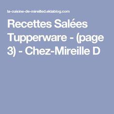 Recettes Salées Tupperware - (page 3) - Chez-Mireille D