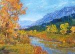 Autumn on the River by Ellen Walton Oil ~ 12 x 16