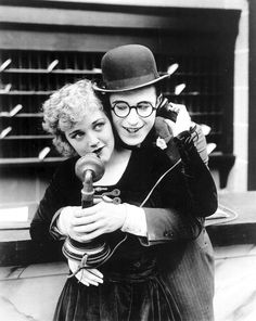 "Harold Lloyd (April 20, 1893 - March 8, 1971 (age 77) and Mildred Davis (February 22, 1901- August 18, 1969)  in a publicity photo for ""High And Dizzy"" (1920) #actor"