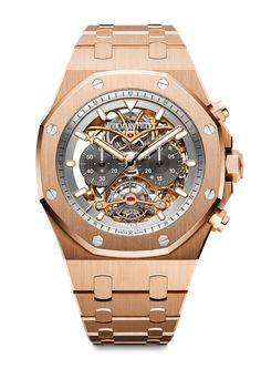 4f5e12504ab Audemars Piguet Royal Oak Tourbillon Chronograph Openworked - RG - front  Gents Watches