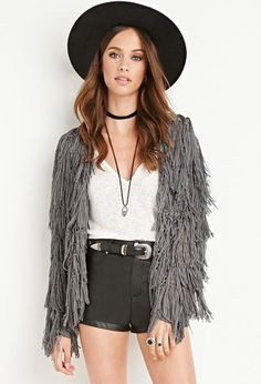 Fringed Open-Knit Cardigan | Forever 21 | #foreveryou