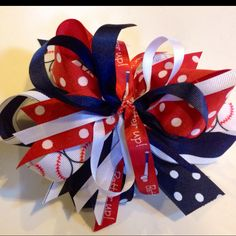 Red, white, and blue Hairbow!