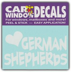 Car Window Decal I Love German Shepherd