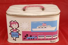 Lil Miss Traveler Makeup Purse Ponytail Train Boat Case--  Ohmigod, I have a companion piece to this!