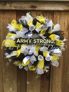 Army Strong Wreath Army Wreath by TheWhimsicalDoor on Etsy
