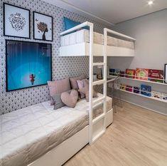 Furniture Stores In Chicago Kids Bedroom Designs, Bunk Bed Designs, Room Design Bedroom, Cute Bedroom Ideas, Room Ideas Bedroom, Home Room Design, Bedroom Themes, Awesome Bedrooms, Bedroom Decor