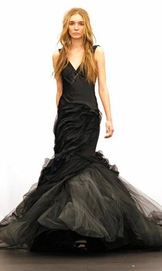 Vera Wang Black Wedding Dress - I wore black when I got married. Nothing like this though!