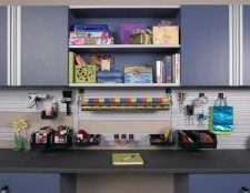 Tailored Living specializes in custom garage cabinets & storage solutions. We design custom garage organization systems for your needs. Garage Storage Cabinets, Storage Shelves, Storage Spaces, Kitchen Cabinets, Closet Storage Systems, Garage Storage Solutions, Classy Closets, Custom Garages, Getting Organized
