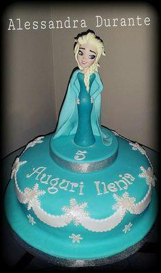 #Fozen #Party #birthey #cake #handmade #withlove #alessandradurante