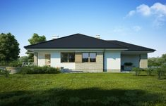 DOM.PL™ - Projekt domu FA Maja CE - DOM GC5-65 - gotowy koszt budowy Home Fashion, Gazebo, House Plans, Garage Doors, Shed, Outdoor Structures, Flooring, House Styles, Outdoor Decor