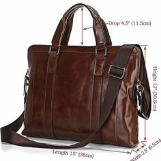 """ModernManBags.com - """"Montreal"""" Men's Vintage Leather Tote"""