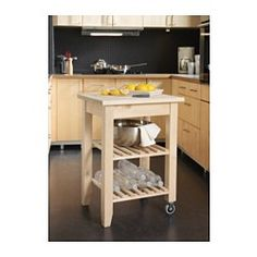 IKEA - BEKVÄM, Kitchen cart, Solid wood can be sanded and surface treated as needed.Gives you extra storage, utility and work space.