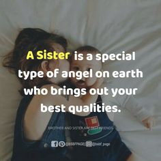 She is the best Aaradhana the loving older sister woth her loving normal brother in our boat club residence om sri sai ram Brother And Sister Memes, Brother And Sister Relationship, Sister Quotes Funny, Love My Sister, Cousin, Dear Sister, Good Thoughts Quotes, Love Quotes For Her, Sibling Quotes