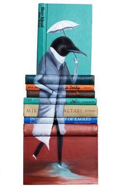 """Mike Stilkey's Book Scultpures  On one hand… """"NOOO, BOOKS! DON'T HURT THE BOOKS!""""    But… """"Well, he's done something really beautiful with them.""""    I'm conflicted."""