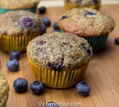 Blueberry muffins with agave