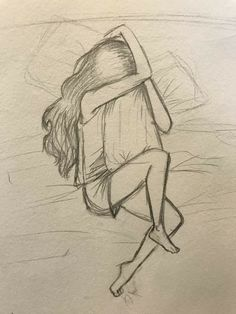 Sad girl drawing lonley crying deep alone - - Easy Pencil Drawings, Sad Drawings, Girl Drawing Sketches, Dark Art Drawings, Art Drawings Sketches Simple, Sad Girl Drawing, Deep Drawing, Drawing Drawing, Drawing Ideas
