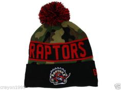 e1d22ce5c1c Official NBA Toronto Raptors New Era Hardwood Classics Camo Knit Beanie Hat  | eBay