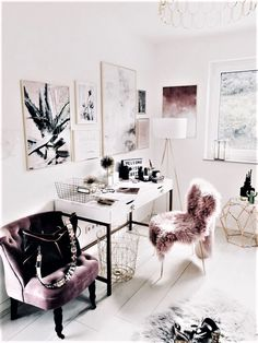 Stunning Useful Ideas: Minimalist Home Essentials Capsule Wardrobe minimalist bedroom color home office.Minimalist Home Office Natural Light minimalist living room black pillows. Home Office Space, Home Office Design, Home Office Decor, House Design, Office Table, Office Spaces, Desk Space, At Home Office Ideas, Pink Office Decor