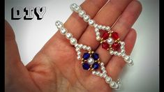 DIY beaded bracelets-simple and elegant . How to make jewelry. easy beading for beginners - YouTube Making Bracelets With Beads, Beaded Bracelets Tutorial, Diy Bracelets Easy, Jewelry Making, Beaded Jewelry Patterns, Bracelet Patterns, Beading Jewelry, Armband Tutorial, Jewelry Crafts