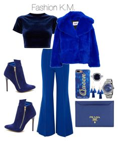 """""""💙Blue💙New💙"""" by karinemarutyan on Polyvore featuring Paper London, MSGM, Prada, Edie Parker and Rolex"""
