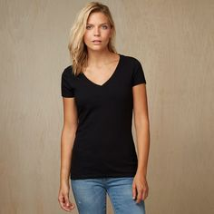 Fitted V-Neck T-Shirt | American Giant