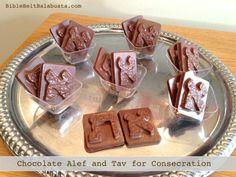 DIY chocolate Hebrew letters