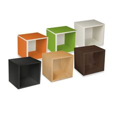 eco friendly Storage Cube by Way Basics - I love storage cubes because they're minimalistic and contemporary, yet you can easily change their character with adding decor and stored items. These are popular because you buy them individually and stack them any way you want to fit your space - perfect for those tight corners in dorm rooms where your bulky belongings just don't quite fit. | found on absemarket.com | #greendorm