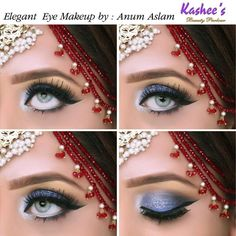 Kashee's Beautiful Soft Eye Makeup Soft Eye Makeup, Bridal Eye Makeup, Eye Makeup Steps, Bridal Makeup Looks, Basic Makeup, Beautiful Eye Makeup, Makeup For Green Eyes, Day Makeup, Makeup Art