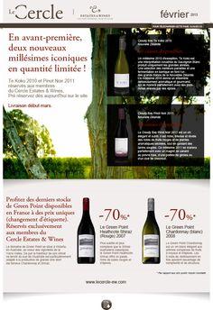 Le Cercle - Estate & Wines newsletter de février 2013 Création FAT4