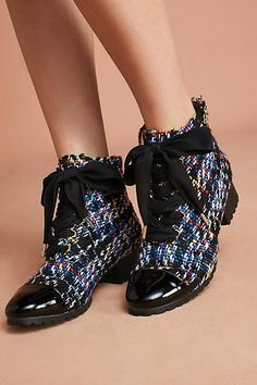 Anthropologie | F-Troupe Tweed Hiker Boots