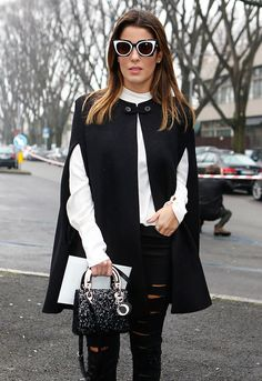 e001ede24df6 The Many Bags of Milan Fashion Week Fall 2015 s Celebrity Attendees Lady  Dior Mini