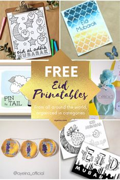 EID PRINTABLES GALORE FROM ALL AROUND THE WORLD. Eid Envelopes, Eid Banner, Eid Party, Hand Lettering Quotes, Positive Images, Child Life, Activity Days, Eid Mubarak, Party Packs