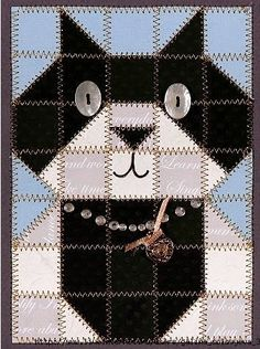 Irina: Cute Patchwork. Cat Quilt Patterns, Quilt Square Patterns, Mug Rug Patterns, Patchwork Patterns, Colchas Quilting, Quilting Projects, Quilting Designs, Quilt Baby, Cute Quilts