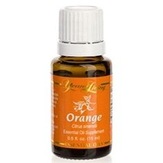"""My daughter loves orange! She says it helps her mood. It just smells happy! You just cannot help but feel a little happier after smelling it!""  A college student says: ""I take it in my nighttime capsule and it seems to help me not be as groggy in the AM."" Orange Young Living Essential Oil."