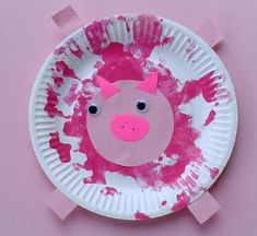 Crafts for toddlers - paper plate baby farm animals animal crafts for kids, Farm Animal Crafts, Pig Crafts, Animal Art Projects, Toddler Art Projects, Farm Crafts, Animal Crafts For Kids, Daycare Crafts, Toddler Crafts, Dinosaur Crafts