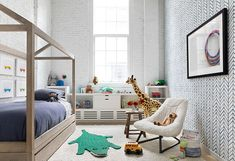 This Chic New York City Loft Conversion Is What Dreams Are Made Of Tour this fascinating loft conversion by Chango & Co., featuring transitional loft living for a family in the Dumbo neighborhood of New York. Zara Home, White Furniture, Custom Furniture, Handmade Furniture, Furniture Design, Layout, Dining Nook, My Living Room, Girls Bedroom