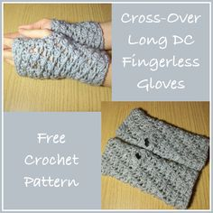 Free crochet pattern for a pair of fingerless gloves. The pattern instructions are for small hands, but if you used a thicker yarn you could easily increase the size.