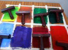 Preparation for a printing workshop - www.inc-inc.co.uk/workshops