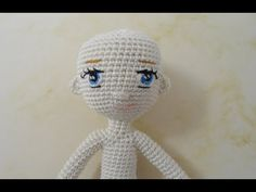Little doll crochet /Miniature doll crochet/ Part 2 /head and embroidery eyes Crochet Dolls Free Patterns, Crochet Doll Pattern, Crochet Toys, Bjd, Doll Carrier, Wedding Doll, Crochet Wedding, Doll Quilt, Tiny Dolls