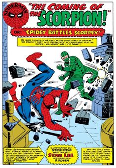 Spider-Man vs. the Scorpion (from ASM #20)