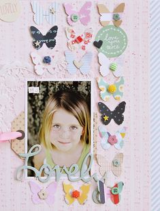 Lovely - Scrapbook.com.  Repeat any punch that fits your page...balloons, hearts, clouds, stars, flowers, ...