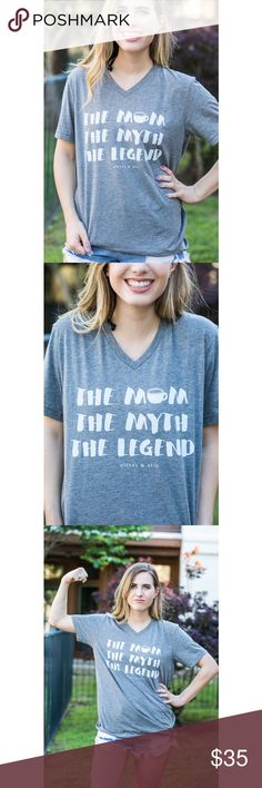 The Mom. The Myth. The Legend. So cute and a soft tee ☺️ Unisex fit, so true to size 😊 Tops